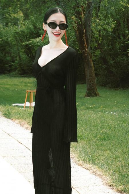 Aurea Robe en Maille Noire